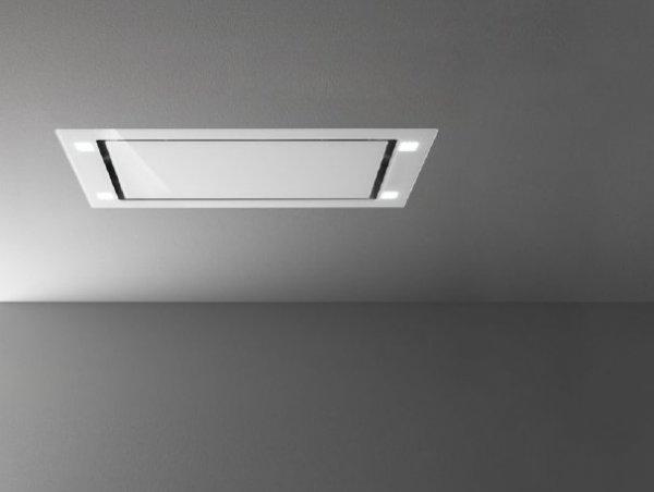 SIRIO Cappa Falmec soffitto 90cm. vetro bianco