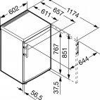 CPesf1476 Congelatore Liebherr tavolo inox 60cm. A++ 103L. smart frost