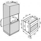 H 2267 BP Forno Miele 60cm. inox pirolitico 76L. 8 funz.  A+