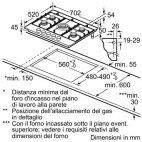PCQ715B90E Piano cottura BOSCH cm.70 acciaio INOX