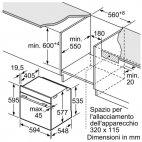 HBG636ES1 Forno Incasso Bosch Inox A+