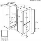 SCB51811LS Frigo congelatore incasso AEG A+