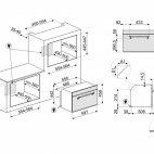SF4750MAO Smeg Forno microonde + grill H. 45cm antracite