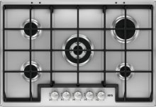 HG755450SM AEG 75 cm. Gas Hob 5 burners St/Steel with cast iron grids