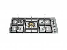 P9101PROX BERTAZZONI 90 cm. St/Stell Gas Hob with cast iron grids